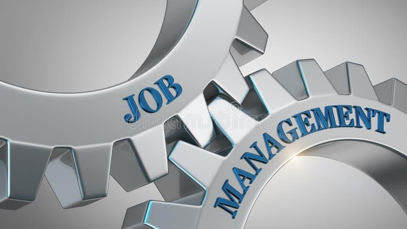 Job Management Concept stock illustrationer