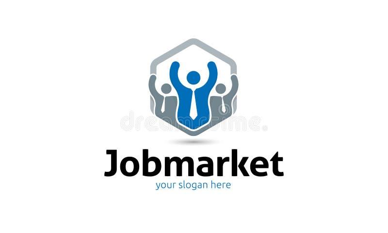 Job Market Logo illustrazione di stock
