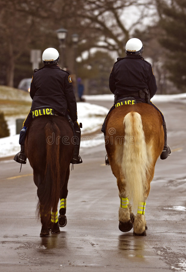 On The Job - Mounted Patrol Stock Images