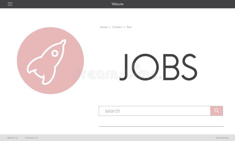 Job-neues Geschäfts-Produkteinführungs-Plan-Konzept vektor abbildung