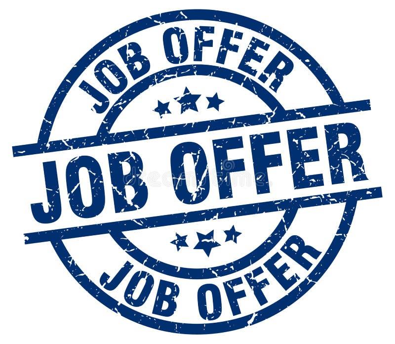 Job offer stamp. Job offer grunge vintage stamp isolated on white background. job offer. sign royalty free illustration