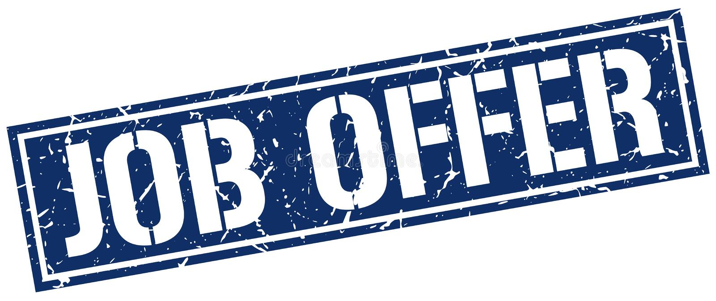 Job offer stamp. Job offer square grunge sign isolated on white. job offer stock illustration