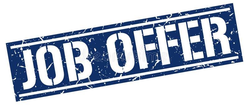 Job offer stamp. Job offer square grunge sign isolated on white. job offer royalty free illustration