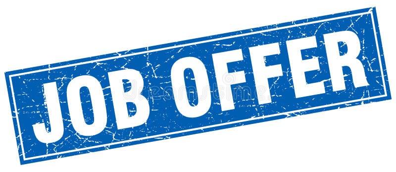 Job offer stamp. Job offer square grunge stamp. job offer sign. job offer vector illustration