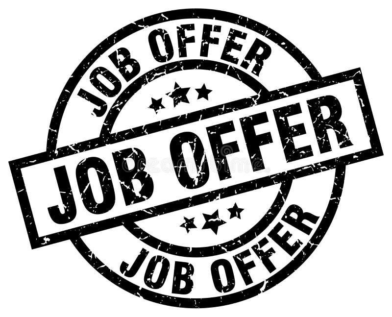 Job offer stamp. Job offer grunge vintage stamp isolated on white background. job offer. sign vector illustration