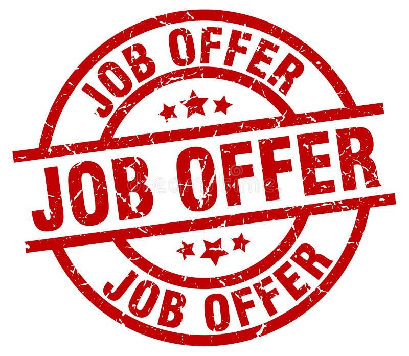 Job offer stamp. Job offer grunge vintage stamp isolated on white background. job offer. sign stock illustration