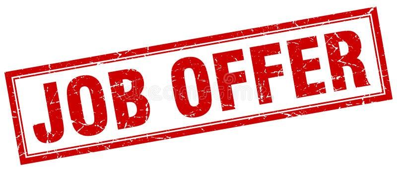 Job offer stamp. Job offer square grunge stamp. job offer sign. job offer royalty free illustration