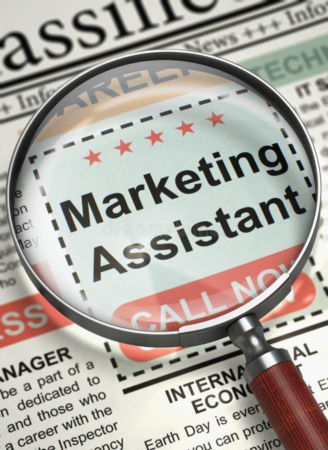 Job Opening Marketing Assistant 3d royalty-vrije stock fotografie