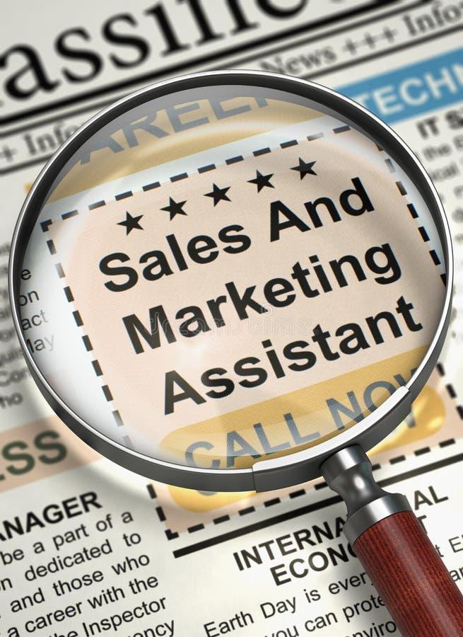 Job Opening Sales And Marketing-Medewerker 3d stock afbeelding