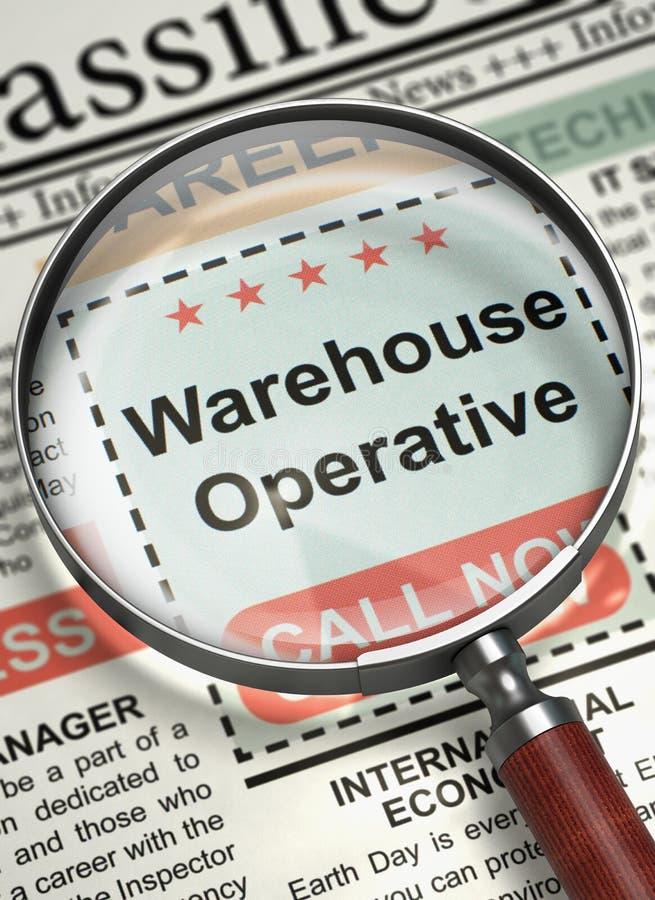 Job Opening Warehouse Operative 3d fotos de archivo