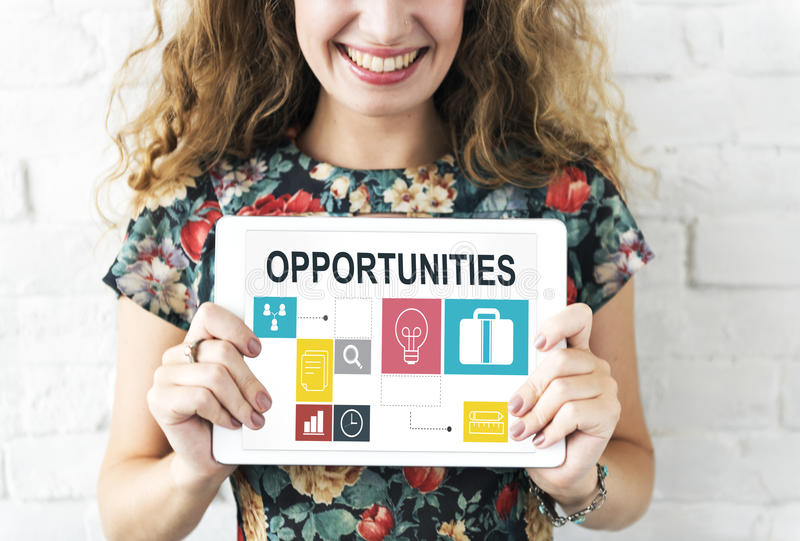 Job Opportunities Motivation Employment Competence Concept royalty free stock photos