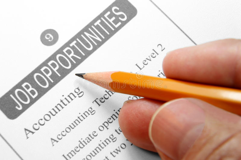 Job Opportunity Classified Stock Image