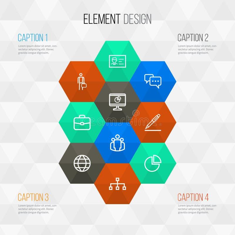 Job Outline Icons Set Collection de structure illustration stock