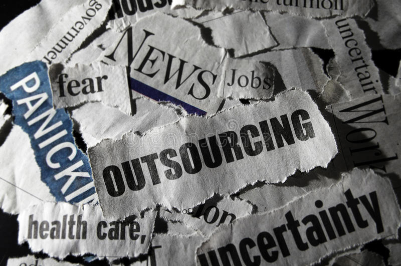 Job outsourcing concept royalty free stock images