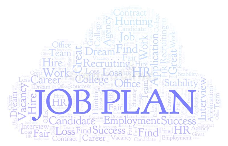 Job Plan word cloud. royalty free illustration