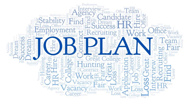 Job Plan word cloud. vector illustration