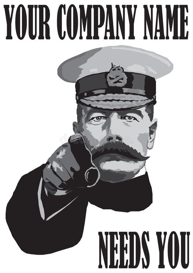 Job Poster illustrazione di stock