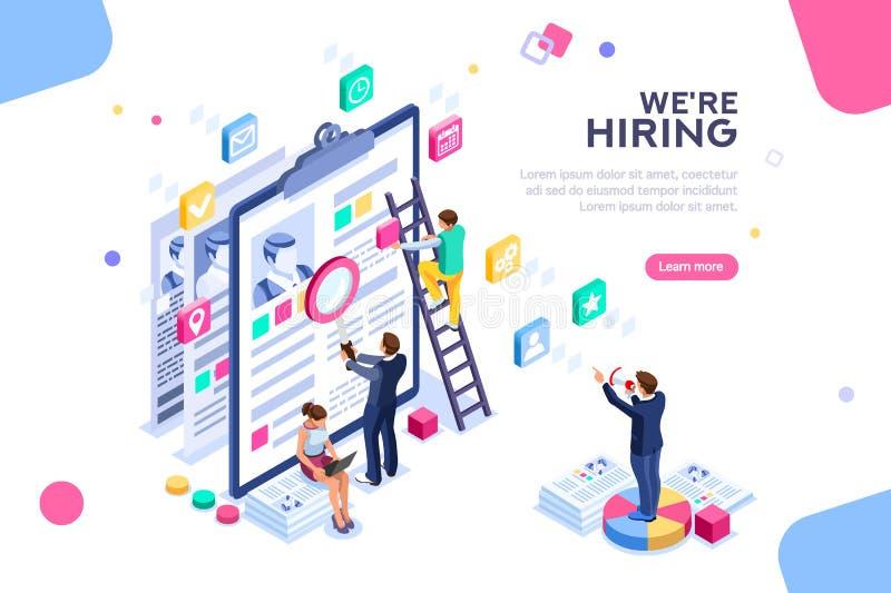 Job Presentation Career für Interview-Schablone lizenzfreie abbildung