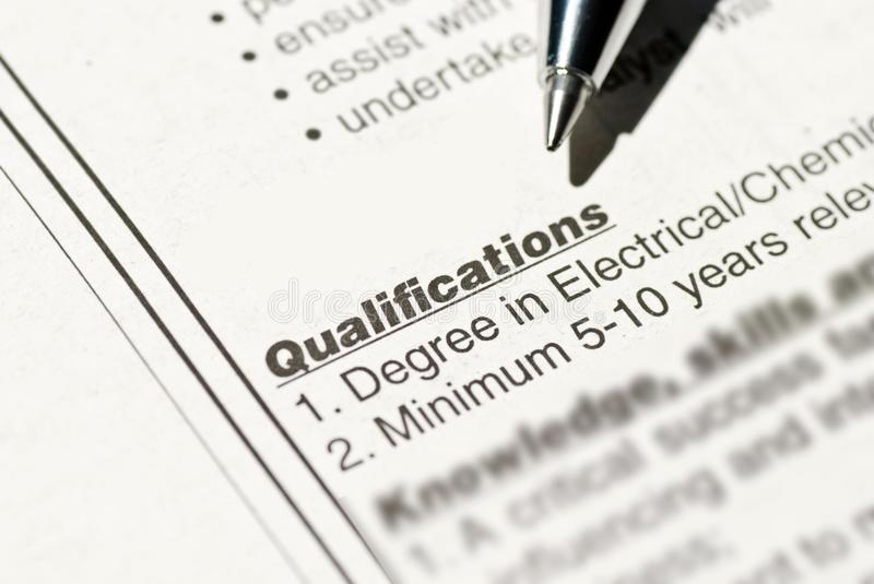Download Job Qualification Stock Image. Image Of Resource, Position    33808911  Job Qualifications