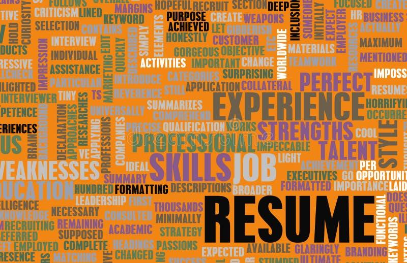 Job Resume. Of a Well Written CV Concept
