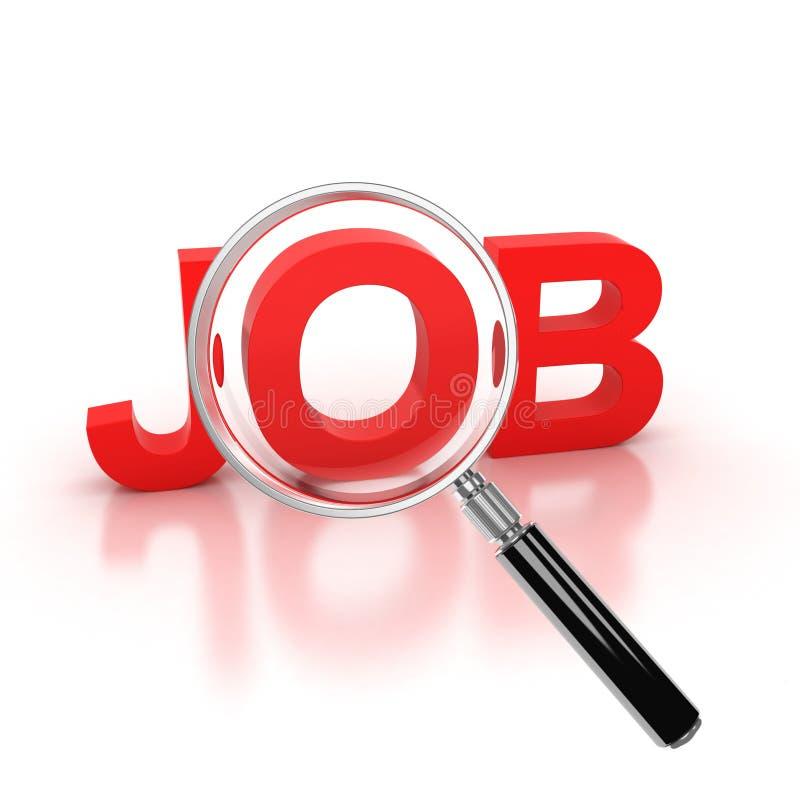 Job search 3d icon vector illustration