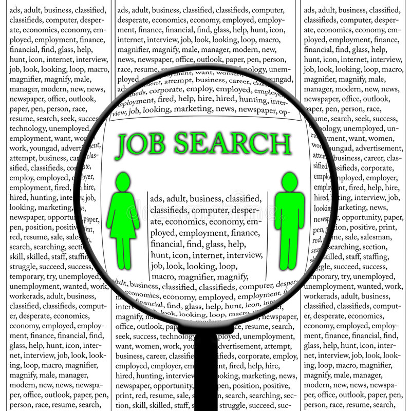 Download Job search stock illustration. Image of advertisement - 7547454
