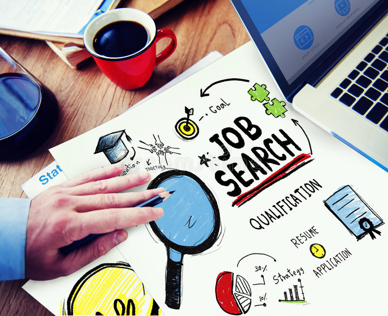 Job Search Application Career Planning Woring Concept royalty free stock photo