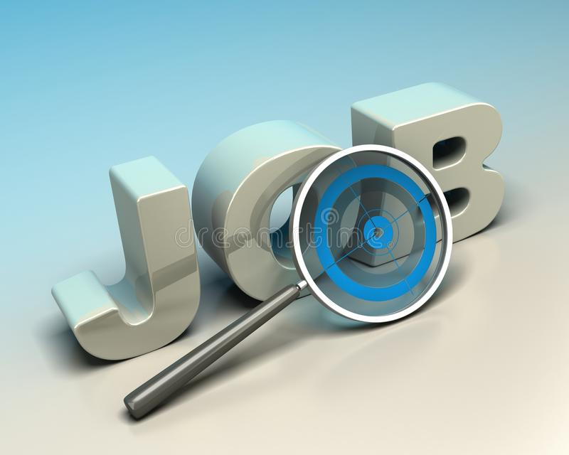 Job search concept stock illustration