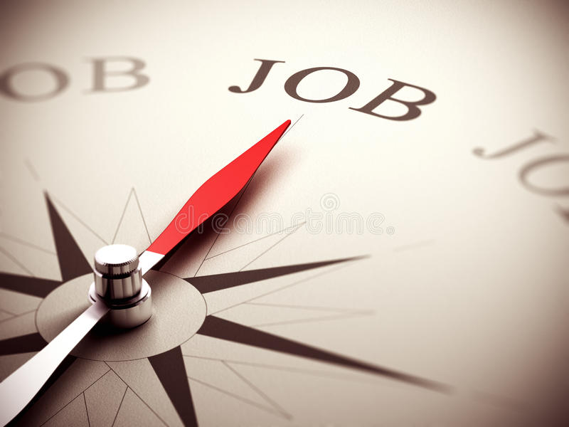 Job Search Concept, Berufsberatung stock abbildung