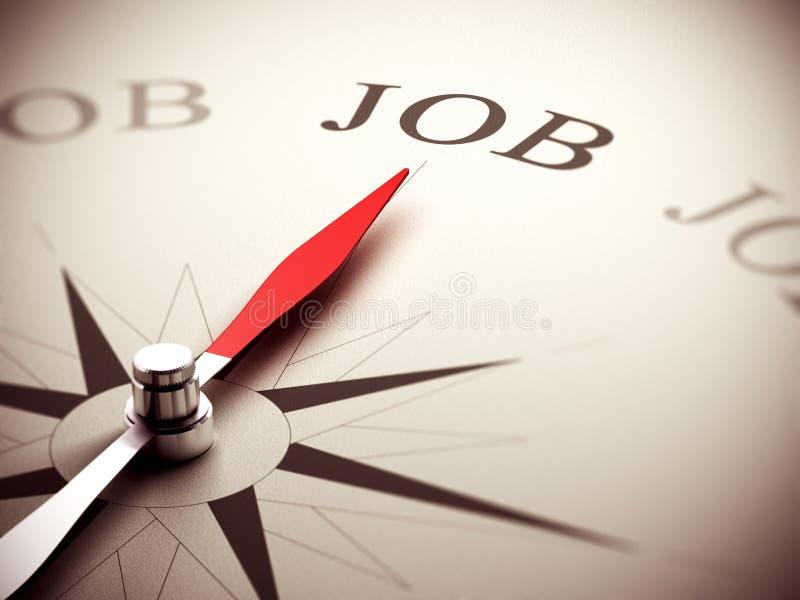Job Search Concept, consiglio di carriera illustrazione di stock