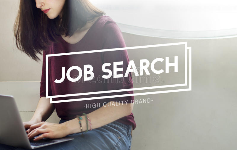Job Search Employment Headhunting Career-Concept stock foto's