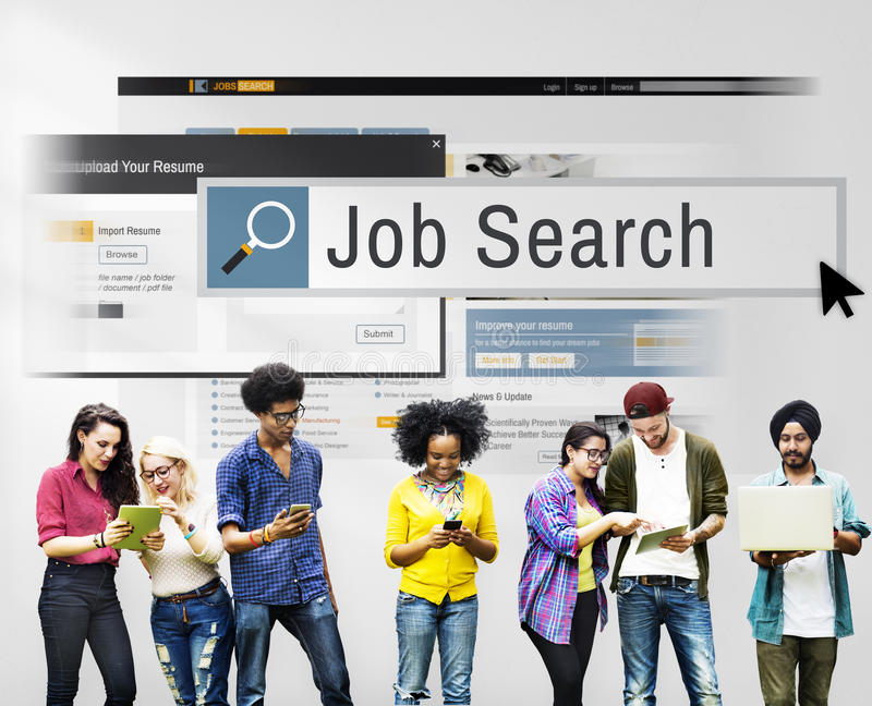 Job Search Human Resources Recruitment Career Concept royalty free stock images