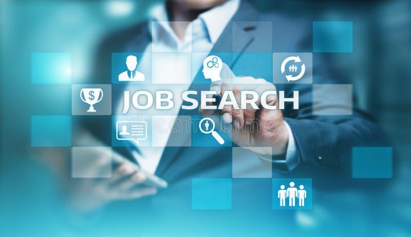 Job Search Human Resources Recruitment-Carrière de Commerciële Technologieconcept van Internet stock foto's