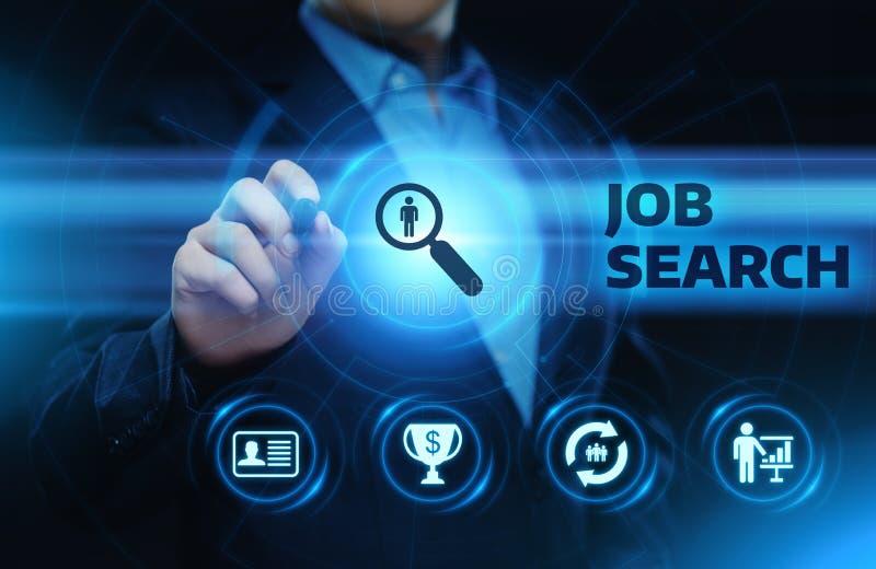Job Search Human Resources Recruitment-Carrière de Commerciële Technologieconcept van Internet stock fotografie