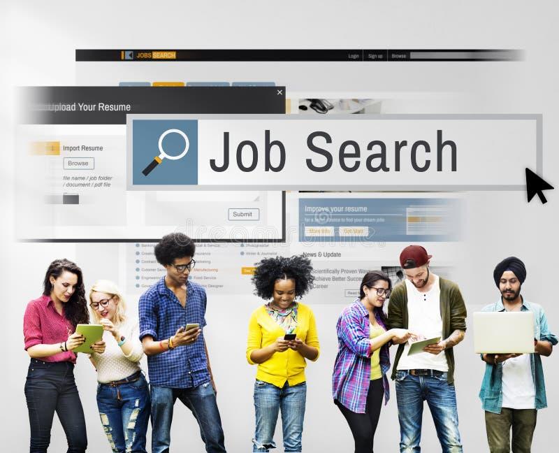 Job Search Human Resources Recruitment-Carrièreconcept royalty-vrije stock afbeeldingen