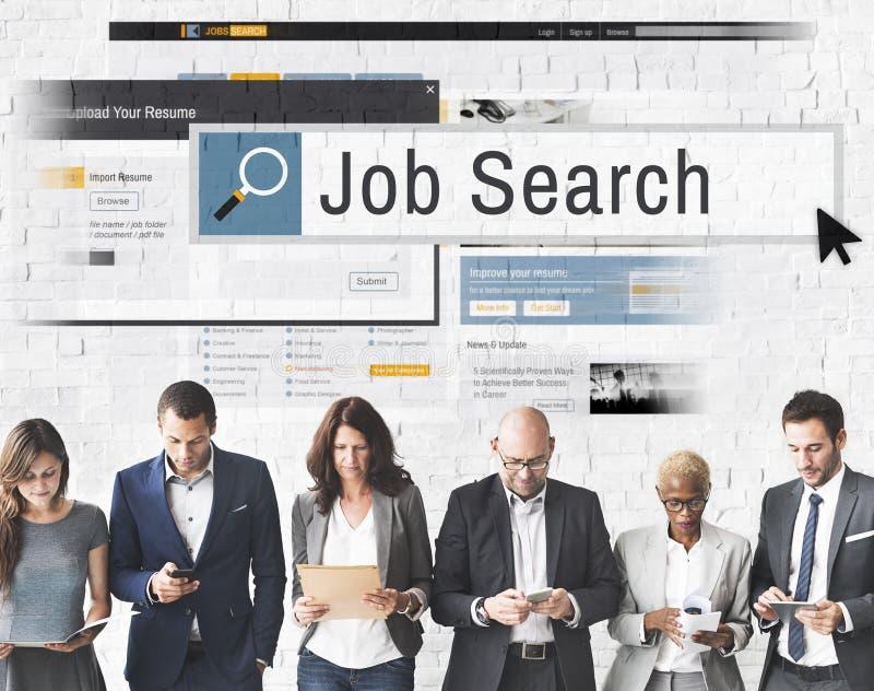 Job Search Human Resources Recruitment karriärbegrepp arkivbild