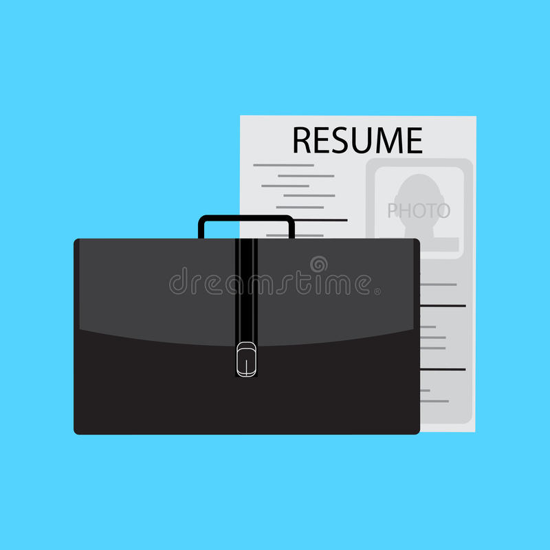 Job search and interview. Professional offer, vector career and interview illustration royalty free illustration