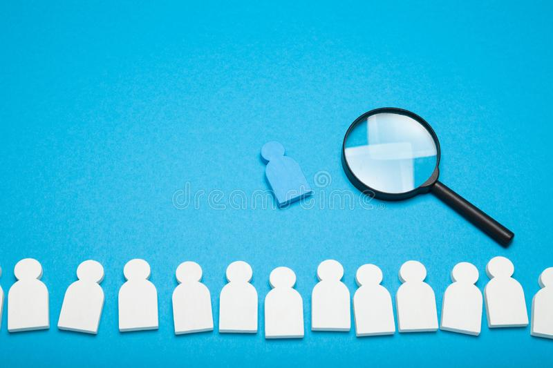 Job search opportunity, recruitment agency.  Hiring people resource, social analysing stock photography