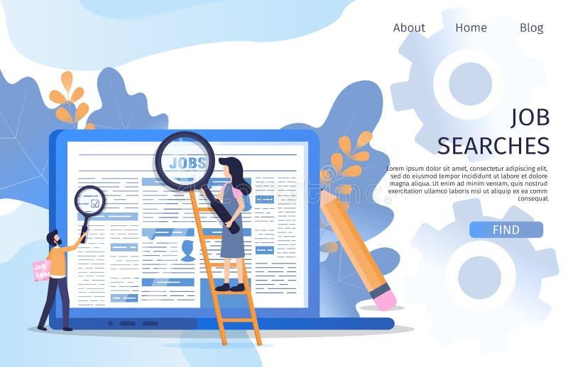 Job Search Recruit för affärschef marknadsplats vektor illustrationer