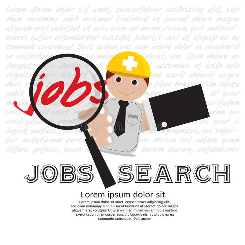 Job Seeker. royalty free illustration