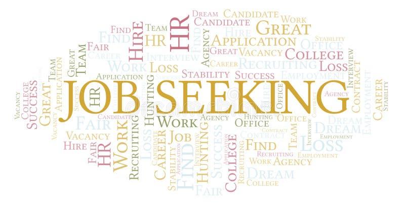 Job Seeking word cloud. stock illustration