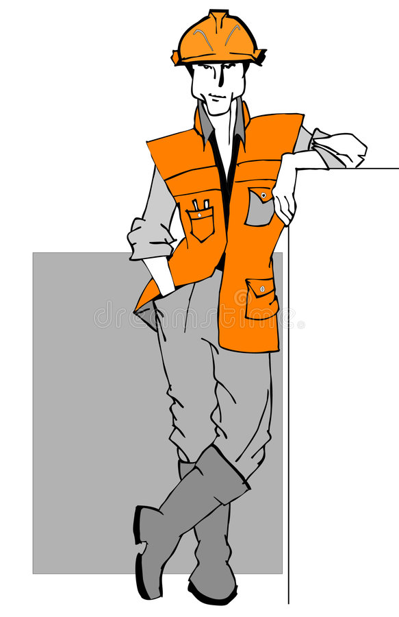 JOB SERIES construction Worker royalty free illustration
