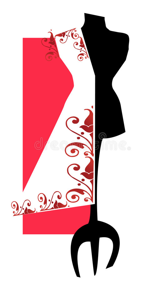 JOB SERIES Dummy. Dummy or mannequin for tailor -vectorial image vector illustration
