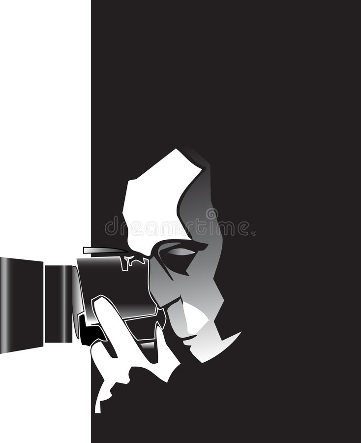 Photographer with Camera vector illustration
