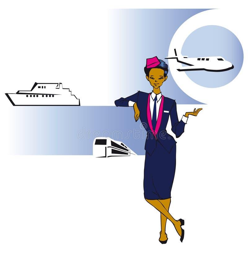 Job series - stewardess royalty free illustration