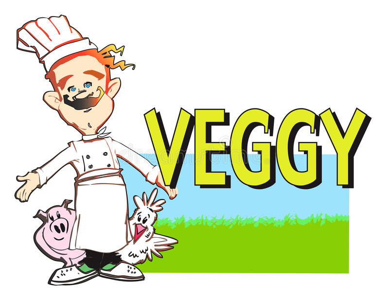 Download JOB SERIES vegan cook stock illustration. Image of cartoon - 2598877