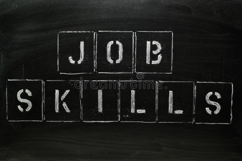 Download Job Skills stock image. Image of blackboard, learning - 15587341