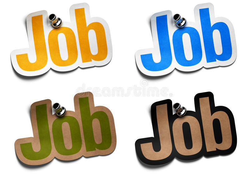 Job stickers royalty free illustration