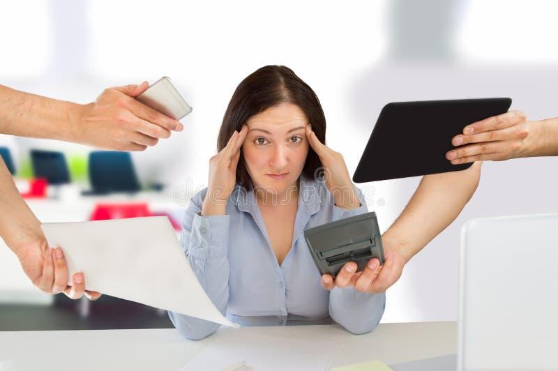 Job Stress arkivbild