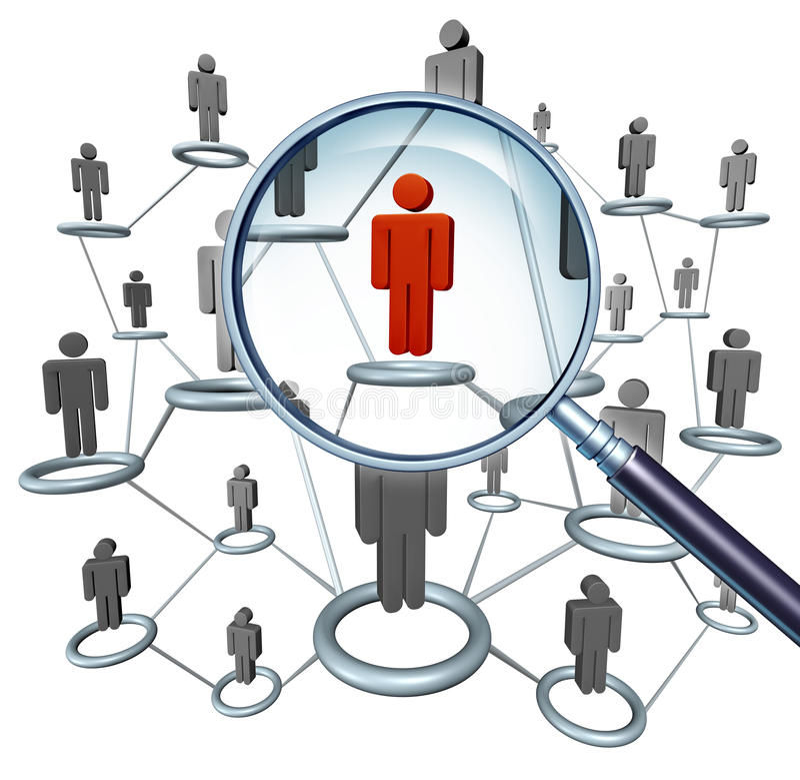 Job-Suchen lizenzfreie abbildung